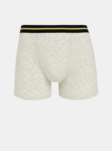 Sada tří šedých vzorovaných boxerek M&Co
