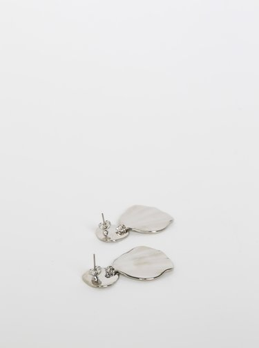 Náušnice ve stříbrné barvě Pieces Nabe