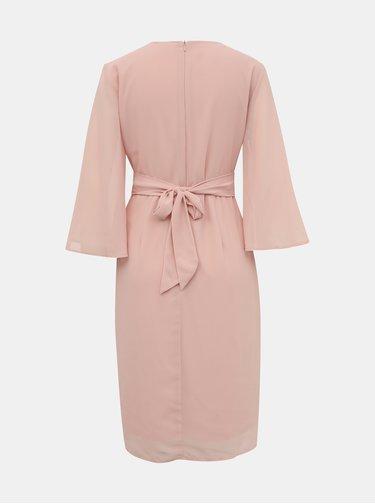 Světle růžové šaty VILA Micada