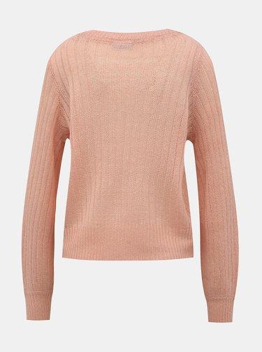 Rúžový sveter Noisy May Sabby