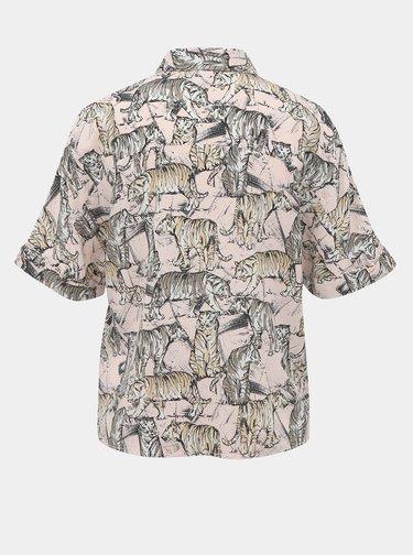 Rúžová vzorovaná košeľa Noisy May Jane