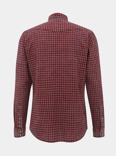 Červená kostkovaná slim fit košile Jack & Jones Weston