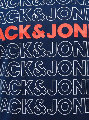 Tmavě modré tričko s potiskem Jack & Jones Pine