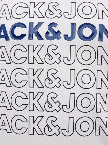Biele tričko s potlačou Jack & Jones Pine