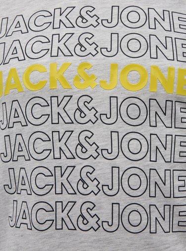 Světle šedé tričko s potiskem Jack & Jones Pine