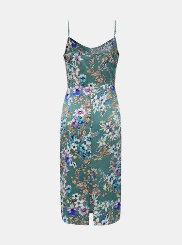 Zelené květované šaty VILA Sitra