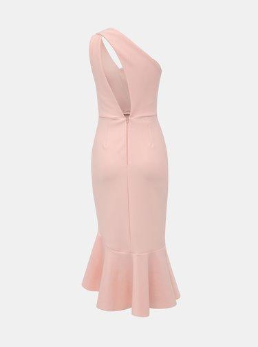 Svetloružové púzdrové šaty Miss Selfridge