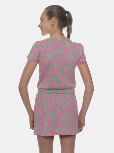 Šedé dievčenské vzorované šaty SAM 73