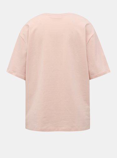 Svetloružové dámske basic tričko Lacoste