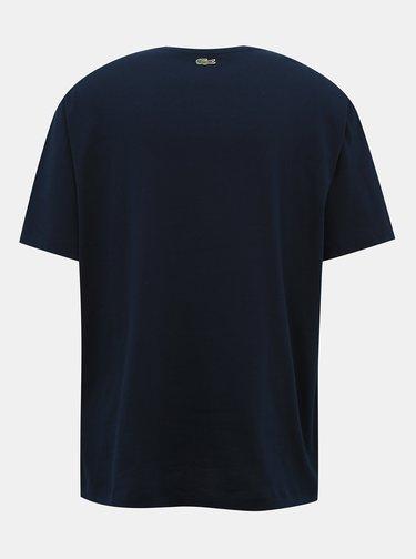 Tmavě modré pánské tričko Lacoste
