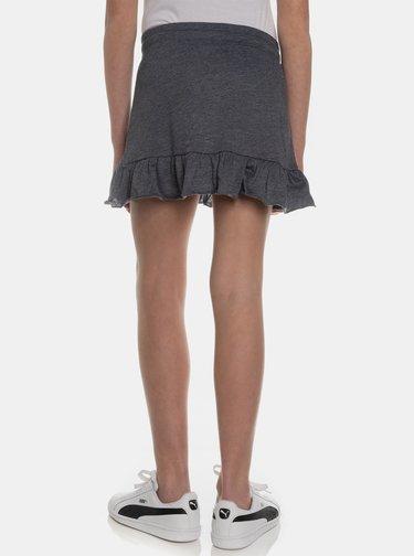 Tmavošedá dievčenská sukňa SAM 73