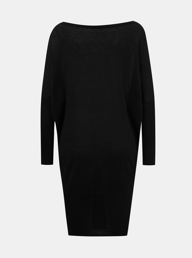 Čierne trblietavé svetrové šaty ONLY Skylar