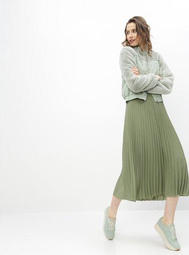 Zelená plisovaná sukňa Selected Femme Josie