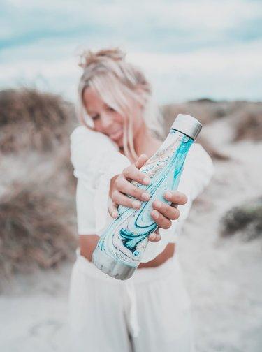 Modrá vzorovaná láhev GLACIAL Fantasy 400 ml