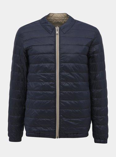 Modro-béžová obojstranná ľahká bunda Selected Homme