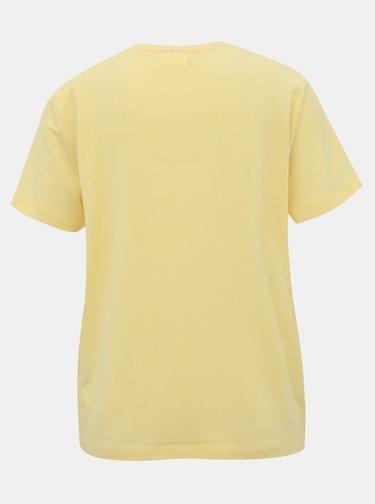 Žlté basic tričko AWARE by VERO MODA Ava
