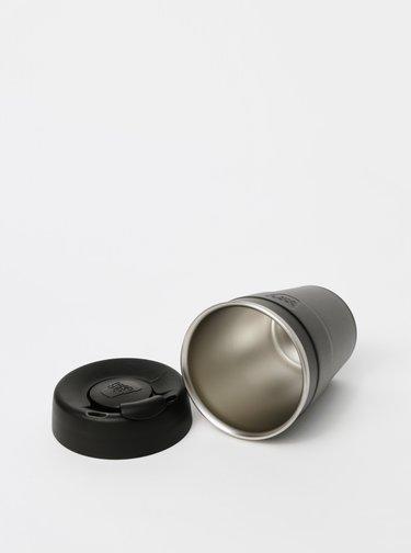Černý nerezový cestovní hrnek KeepCup Thermal medium 340 ml