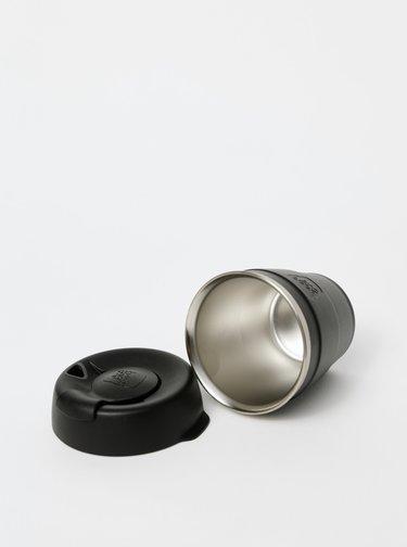 Černý nerezový cestovní hrnek KeepCup Thermal small 177 ml