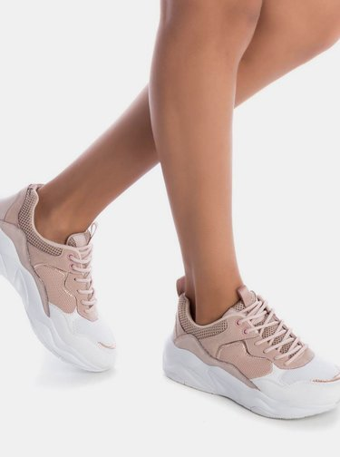Bílo-růžové dámské tenisky Xti