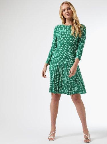 Zelené kvetované šaty Dorothy Perkins Tall
