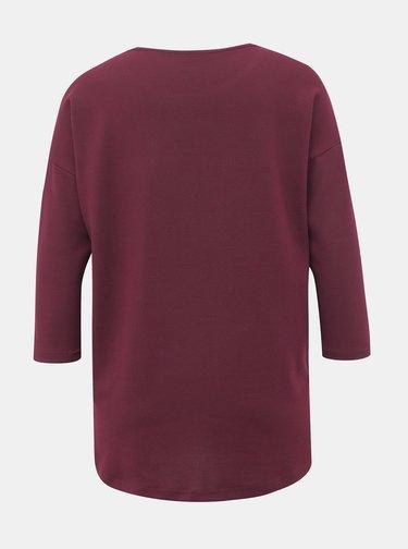 Vínový lehký basic svetr VERO MODA