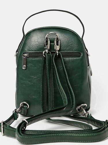 Tmavozelený batoh/kabelka Bessie London