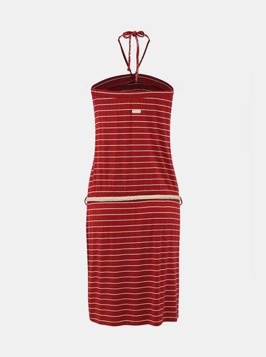 Červené pruhované šaty Ragwear Chicka