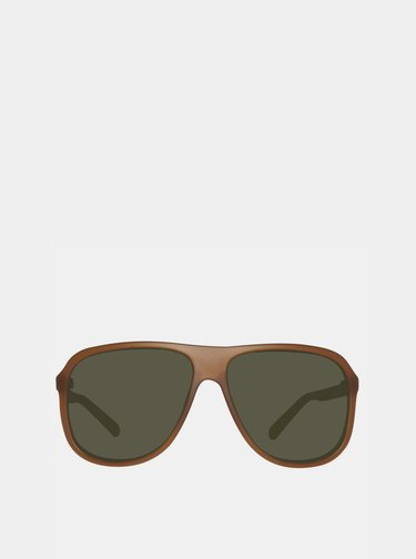 Hnedé pánske slnečné okuliare Guess