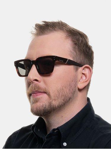 Tmavě hnědé sluneční brýle Diesel