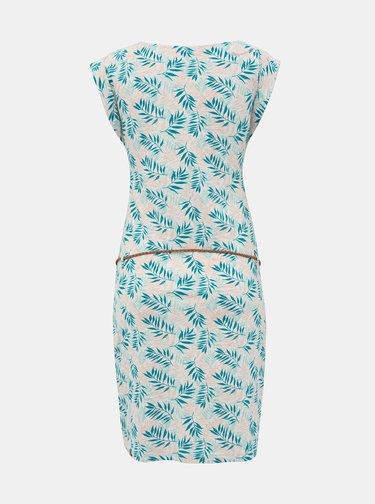 Modro-šedé vzorované šaty Ragwear Tag Leaves
