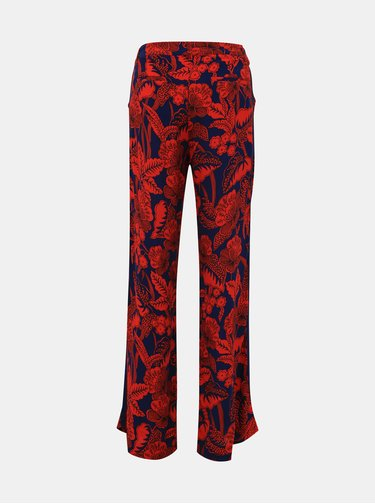 Červeno-modré květované kalhoty s lampasem Desigual Eritrea