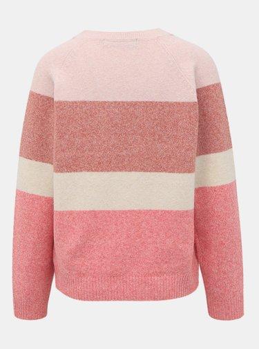 Ružový pruhovaný sveter VERO MODA Doffy