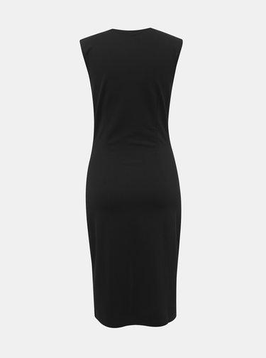 Čierne púzdrové šaty VERO MODA Dolly