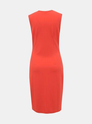 Červené pouzdrové šaty VERO MODA Dolly