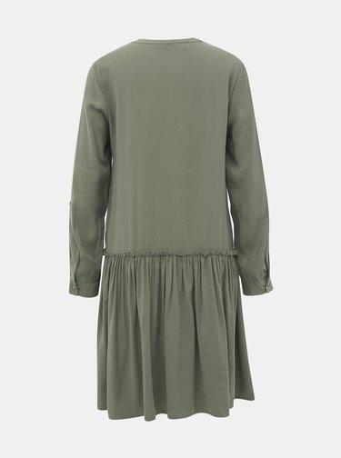 Kaki košeľové šaty VERO MODA Michalla
