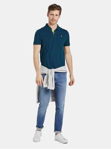 Petrolejové pánské basic polo tričko Tom Tailor