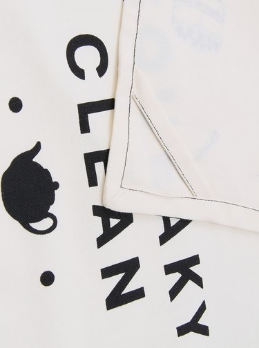 Krémová utěrka s potiskem CGB