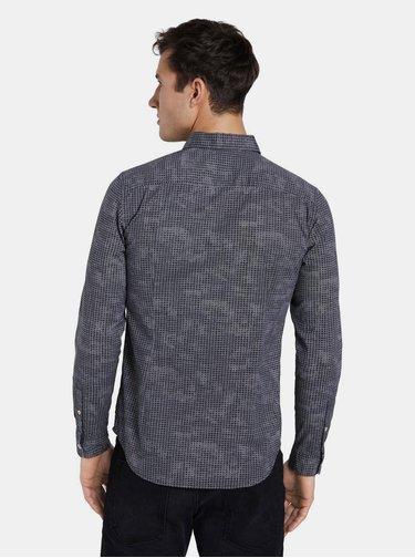 Černá pánská kostkovaná košile Tom Tailor