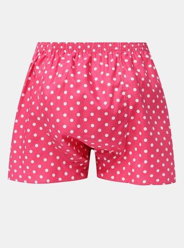 Ružové pánske bodkované trenýrky El.Ka Underwear