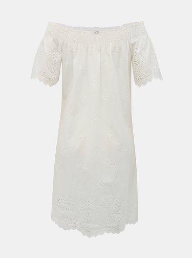 Biele šaty s madeirou ONLY New