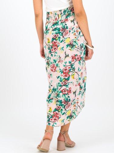 Svetloružová kvetovaná midi sukňa Blutsgeschwister