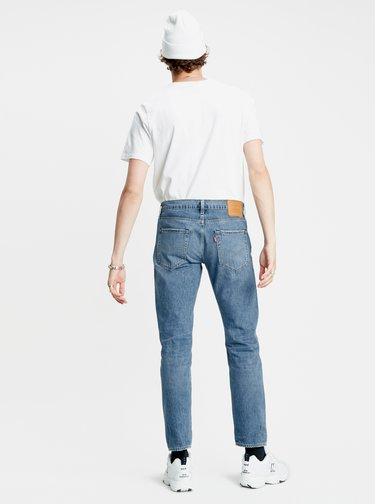 Modré pánske regular fit rifle Levi's® 502 Taper