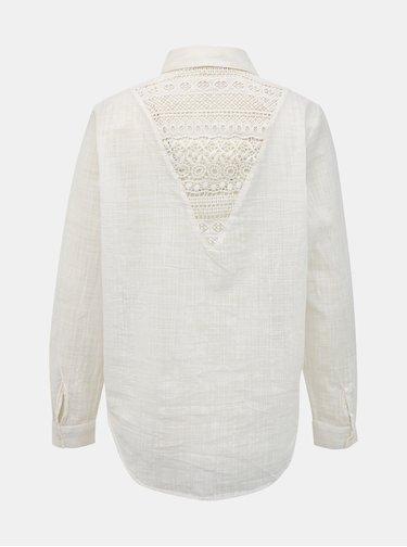 Biela košeľa s krajkou ONLY Jeanette