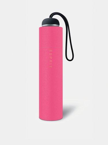 Růžový dámský skládací deštník Esprit