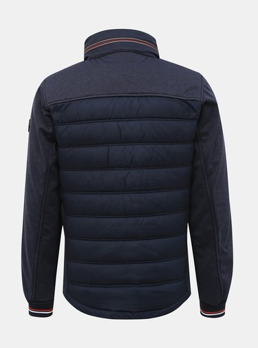 Tmavomodrá pánska prešívaná bunda Tom Tailor
