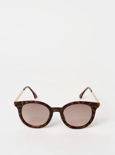 Hnedé dámske vzorované slunečné okuliare Haily´s Tony