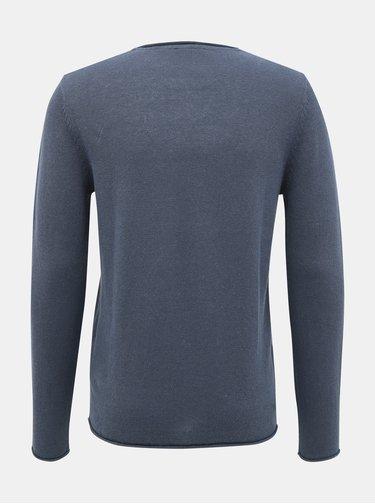 Šedý ľanový basic sveter Jack & Jones Premium Blalinen