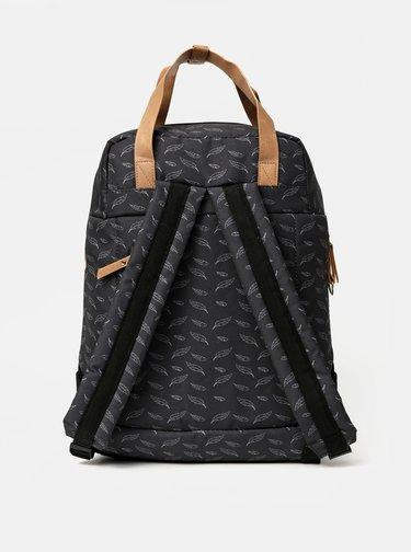 Tmavošedý dámsky vzorovaný batoh LOAP Reina 15 l