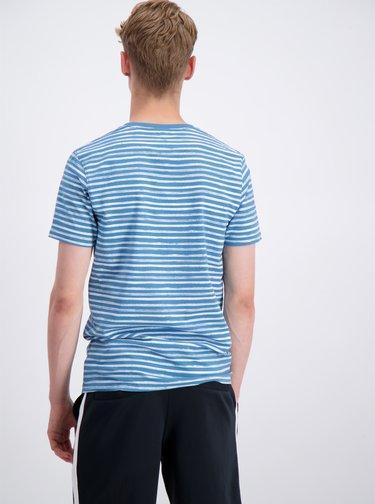 Bílo-modré pruhované tričko Shine Original