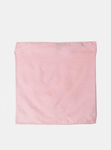 Růžový hedvábný kapesníček Selected Homme Malek